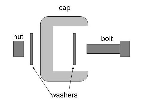bottle cap tripod - diagram