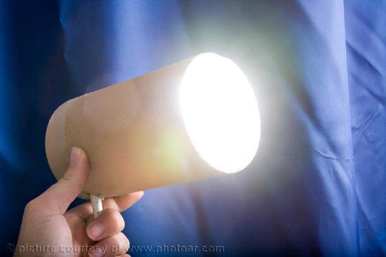 home made flash spot light / hair light
