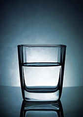 a glass of water - bright field with LED