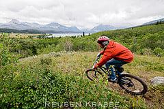 Self Portrait MTB -Glacier National Park 1 (by Reuben Krabbe)