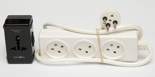 travel photography - power strip