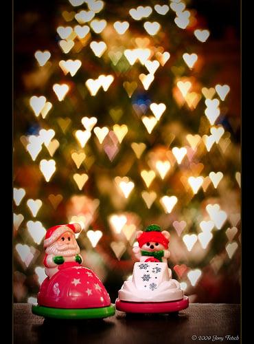 Heart Shaped Bokeh Christmas Lights (by jerneedog (ON VACATION!))