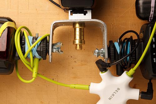 umbrella/ soft box bracket DIY - 3