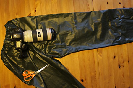 Protect Your Camera From Rain Using An Old Pair Of Rain