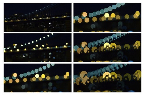 Bokeh Silhouette - bridge sequence