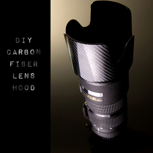 Show Your Lens Some Love By Making It A Carbon Fiber Hood