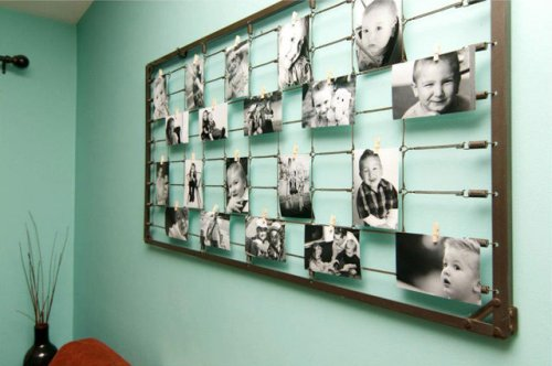 DIY Photography Wall Art from Baby Crib Springs