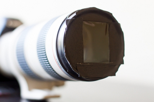 Gaffer Tape, old UV Filter and the film from Eclipse Shades
