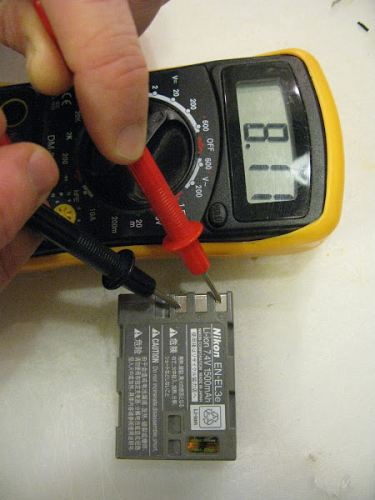 Voltage of Nikon DSLR Camera Battery
