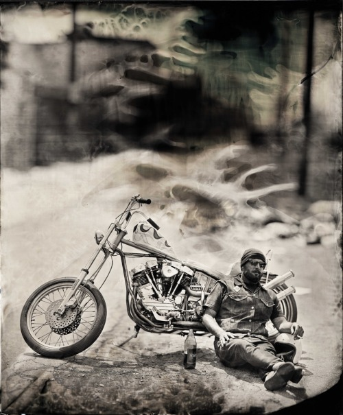 Capturing The American Dream On a wet Plate Truck