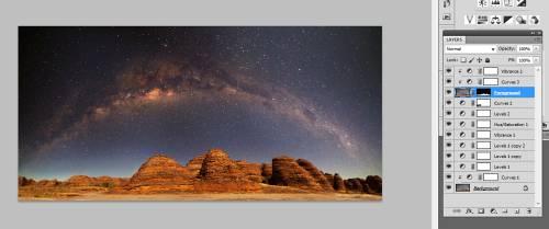show photoshop layered image