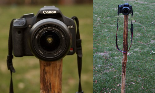 Use Toilet Tank Lift Wires To Make a Self Standing Monopod Staff