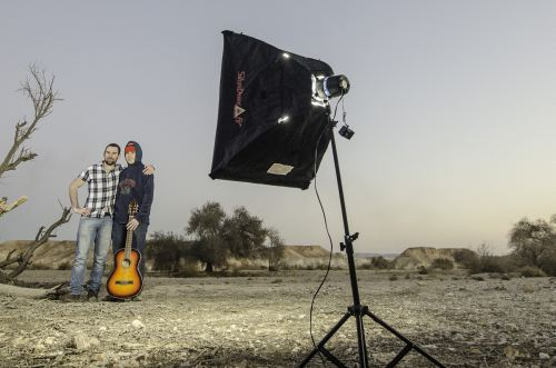 Shooting An Ode To While My Guitar Gently Weeps