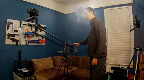 A Portable DIY Travel Jib / Shoulder Rig