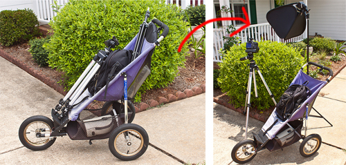 Grown Up Babies? Use Their Stroller As Photo Assistants