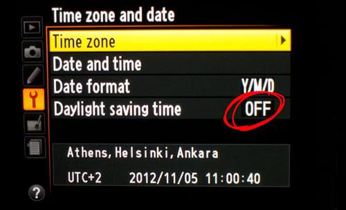 Reminder: Set Your Camera Clocks Today