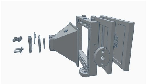A 3D Printed 4x5 Inch Pinhole Camera