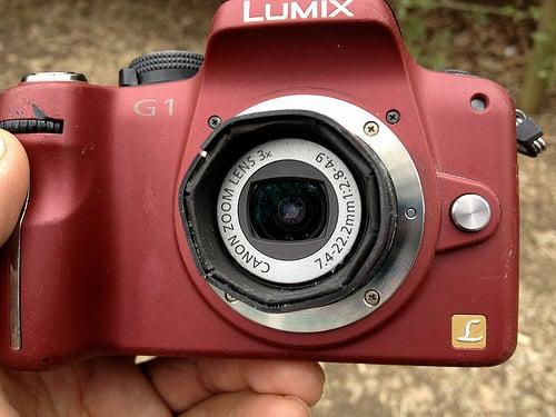 IXY-Degital camera Lens on LUMIX G1