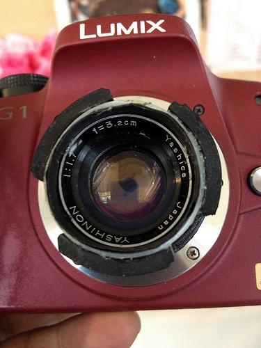 YASHICA Half 17 Lens on LUMIX G1