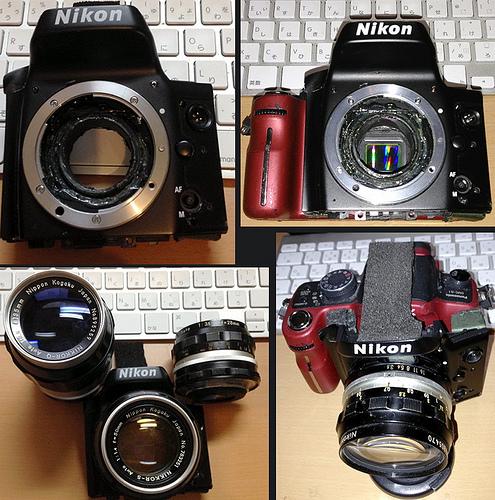 Nikon F-maunt original adaptar(ニコン仮面)