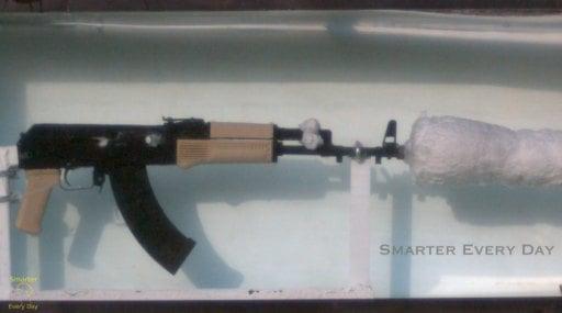 Slo-mo Footage Of AK-47 Shooting Underwater