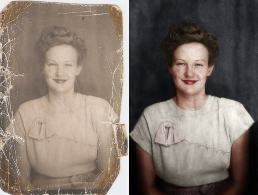Amazing Timelapse Showing The Amount Of Work Invested In Restorating A Damaged Photo