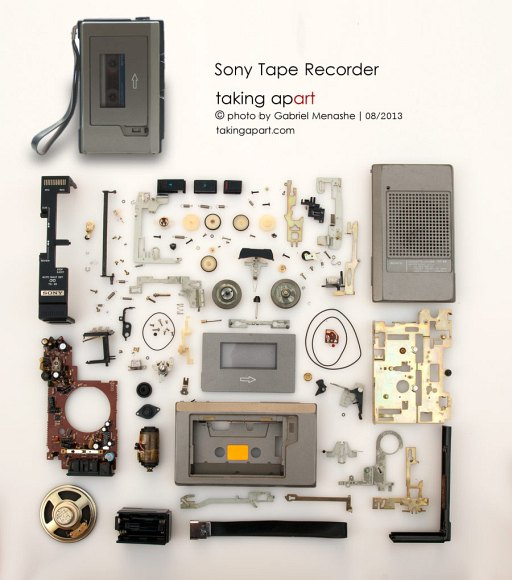 Photographs Of Neatly Arranged Dissembled Old Gadgets