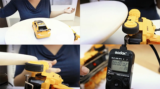 Automating Product Photography with An IKEA SNUDDA And An RC Car
