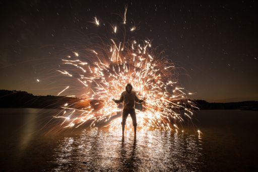A Neat Trick For Balancing Fire And Sky In Light Painting