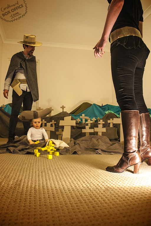 Mother, Father & Baby Shoot Memorable Scenes With Cardboard Box Setups