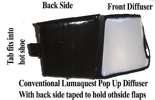 Kimel's Pop Up Flash Soft Box Diffuser