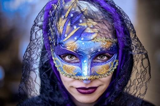 Woman in Halloween Costume Mask JP Danko Toronto Commercial Photographer