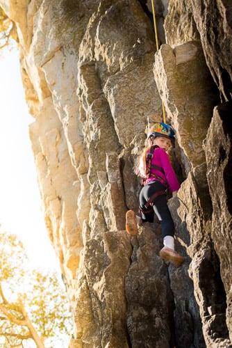 little girl rock climbing jp danko toronto commercial photographer
