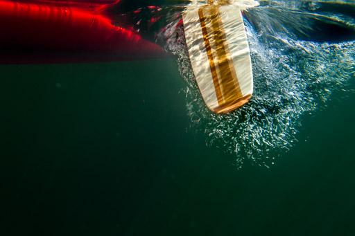 Underwater canoe paddle