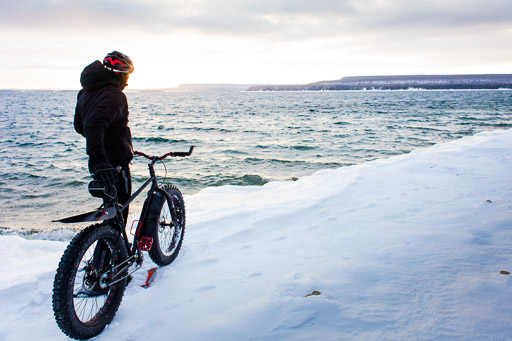 sunrise winter mountain biking extreme sports fat bike photos jp danko toronto commercial photographer blurmedia