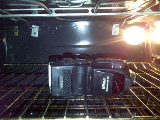 Fresh Baked Flash - Drying Out a Strobe in the Oven