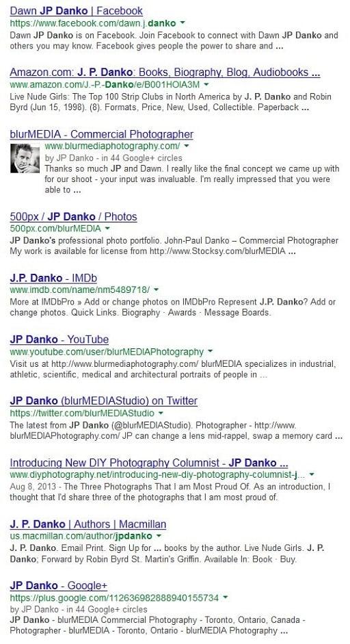 JP Danko Google Image Search blurMEDIA Toronto Commercial Photographer