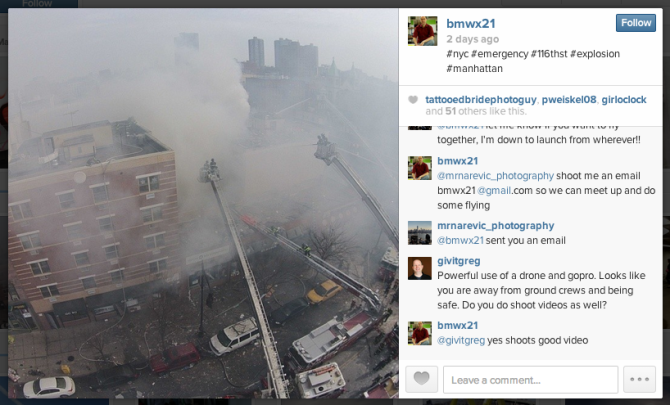 Removing The Camera Drone from the Scene of the NYC Gas Explosion Was the Right Thing to Do