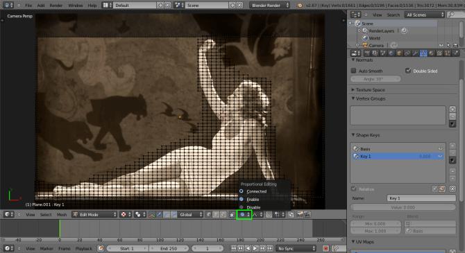 Blender Edit Proportional Editing Mode