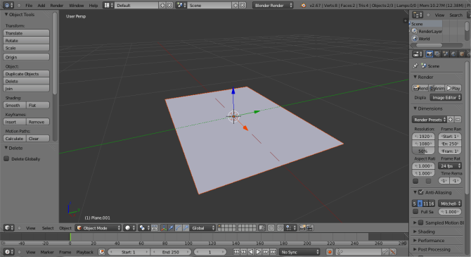 Blender Imported Gray Planes
