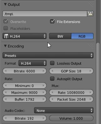 Blender Render Settings Output