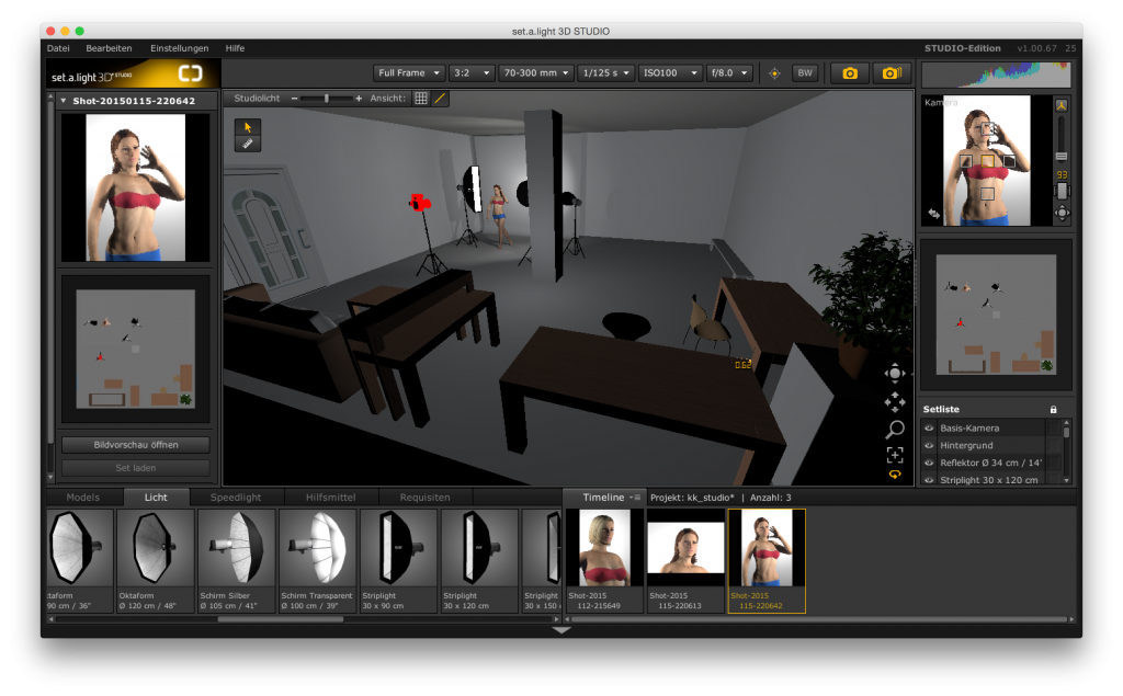 set a light 3D Is a Studio simulation for photographers