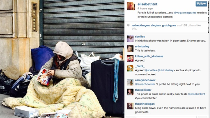 Princess in Hot Water for Posting a Photo of a Homeless Person Reading Vogue