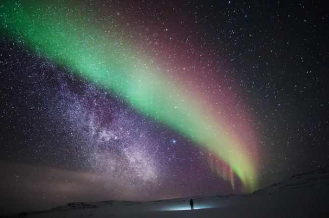 Wandering About Lapland's Milky Way and Northern Lights
