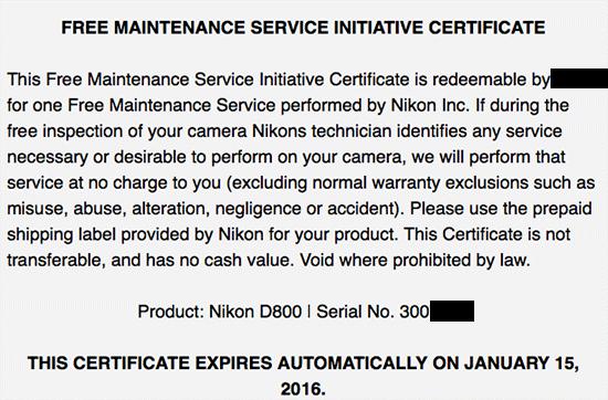 Nikon-D800-free-maintenance-recall-2