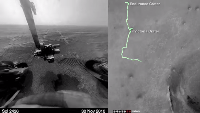 This Timelapse From Mars Shows Rover's 42Km, 12 Years Journey