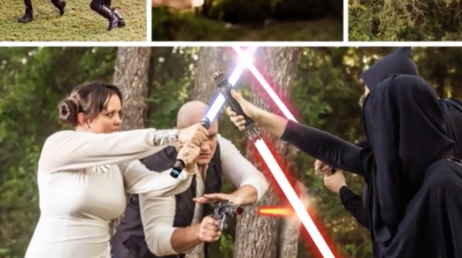 BTS: See How Photographer Created This Epic 'Star Wars' Engagement Shoot