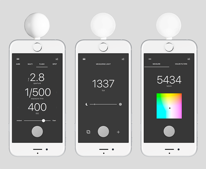 Lumu Power Converts Your iPhone To a Color Meter, Exposure Meter and Flash Meter
