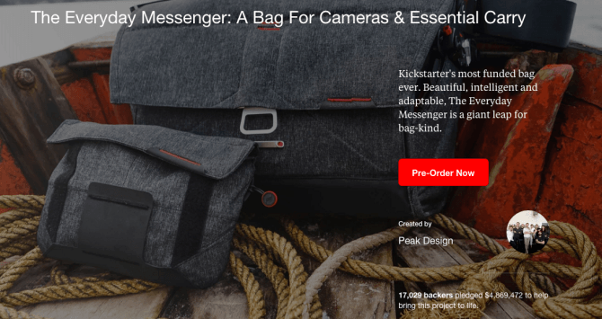 Creating the bag and a compelling Kickstarter page is just the beginning… Once you hit 'go', the really hard work starts