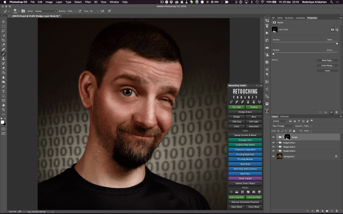 Editing a Cartoon Portrait in Photoshop (and a little Affinity Photo)